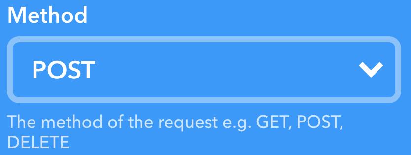 IFTTTの画面