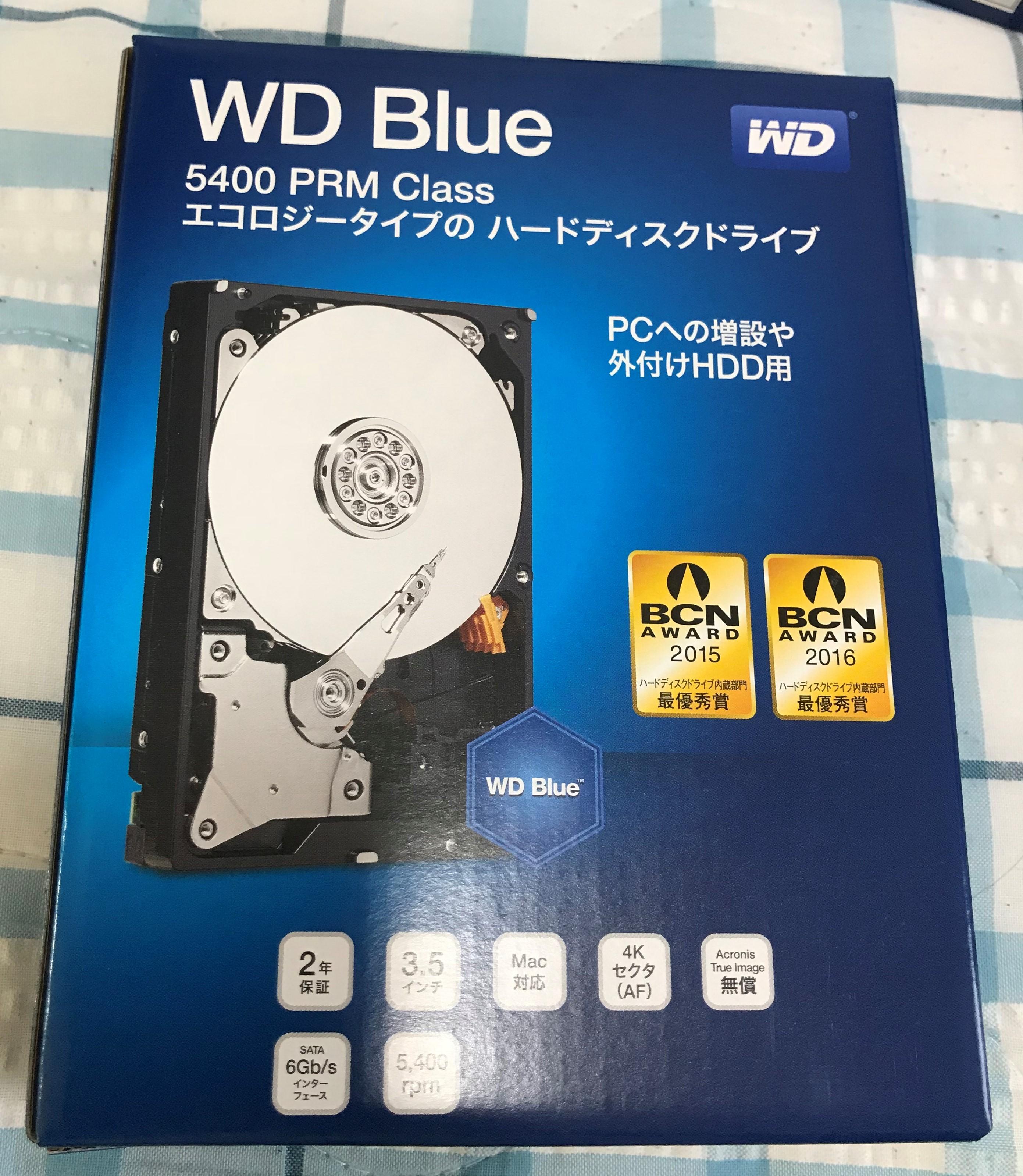 WDのWD40EZRZ-RT2の箱